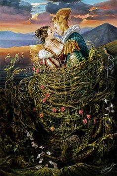 Michael Cheval  Basket of Love, 2007-2003