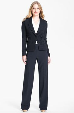 Navy St. John Collection 'Eastside' Knit Blazer available at #Nordstrom