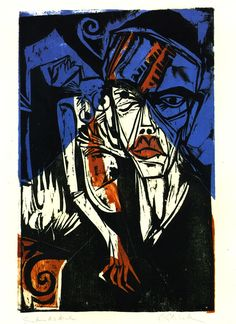 by ernst ludwig kirchner 1933 farbentanz woodcut. Black Bedroom Furniture Sets. Home Design Ideas