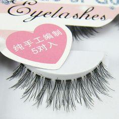 5 Pairs Fashion Natural Handmade Long False Eyelashes Makeup HW-57 F725