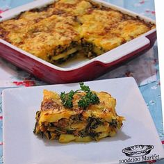 100de100 Marifet: Fırında Patatesli Ispanak Tarifi Healthy Soup Recipes, Keto Recipes, Delicious Recipes, Keto Results, Fat Adapted, Quiche, Food And Drink, Veggies, Yummy Food