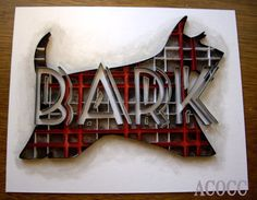 Quiller Barking Scotty Dog  Paper Quilling Wall Art by aCoCC, $90.00