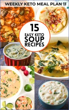 Looking for a great keto soup recipe? I have 15 for you. They are all easy and tasty! Low Carb Soup Recipes, Chowder Recipes, Sausage Recipes, Lunch Recipes, Keto Recipes, Ketogenic Recipes, Chili Recipes, Delicious Recipes, Free Recipes