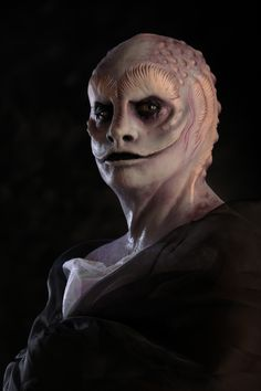 """Silicone Prosthetic  Makeup-Megan Repp"" - we cast it with real shadows and an alien agenda ~:^o>"