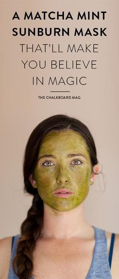 Use your favorite matcha powder in this easy mask that will soothe sunburned skin and actually help erase a sunburn after just one use! We couldn't believe it either, until we gave it a try…