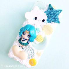 Custom Sailor Moon Chibi Moon Kawaii Decoden Phone by YYKawaii