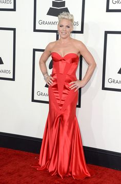 Pink Photos Photos - Singer Pink attends the 56th GRAMMY Awards at Staples…