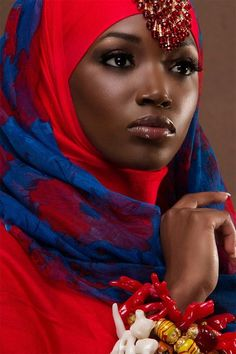 african beauty Hijab Styles for Black Girls. What colour of hijab looks best on a girl with dark skin? How should I style my hijab with my skin tone? So many questions and yet you will African Beauty, African Women, African Fashion, My Black Is Beautiful, Beautiful People, Beautiful Women, Simply Beautiful, Dark Complexion, Dark Skin