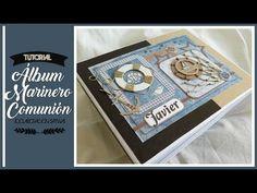 ÁLBUM MARINERO PARA COMUNIÓN NIÑO - INSPIRACION (COLABORACION CON SATWA) | LLUNA NOVA SCRAP - YouTube Papel Scrapbook, Mini Scrapbook Albums, Mini Albums, Nova, Youtube, Personalized Items, Guestbook, Cartonnage, Craft