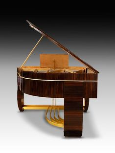 An extraordinary Art Deco Gaveau Grand Piano with casework by René ...