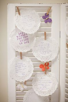 Best Wishes Displayed on Vintage Shutters I Event Crush I #bridalshower #ideas #decor