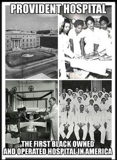 Provident Hospital, the first Black-owned and operated hospital in America, was established in Chicago in 1891 by Dr. Daniel Hale Williams, an African American surgeon during the time in American history. #blackhistoryunlimited
