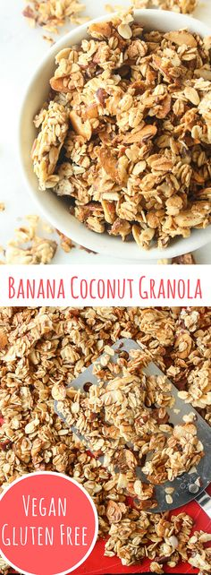 Crunchy, healthy granola with banana and coconut!