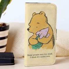 Pooh and Piglet | Disney | Winnie The Pooh | custom wallet case for iphone 4/4s 5 5s 5c 6 6plus case and samsung galaxy s3 s4 s5 s6 case - RSBLVD