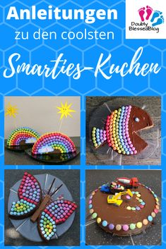 Children just love Smarties cake! Here you will find instructions on the coolest birthday cakes with smarties to make them yourself :-] cake decorating recipes kuchen kindergeburtstag cakes ideas Easy Smoothie Recipes, Easy Smoothies, Smarties Cake, Purple Drinks, Coconut Smoothie, Cake Games, Pumpkin Spice Cupcakes, Mini Cupcakes, Oreo Cupcakes