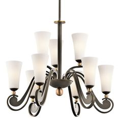 Clermont Olde Bronze Nine-Light Chandelier