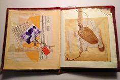 An artist's book from recycled & repurposed papers, old envelopes, ephemera. Rita McNamara - Salon de Refuse Studio