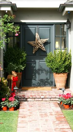 Driftwood star for front door - cute idea