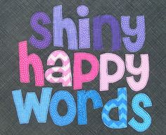 free alphabet applique pattern from Shiny Happy World