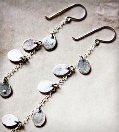 Silver Teardrop Earrings