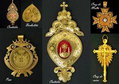 filigrana ouro - Pesquisa Google Portuguese Culture, Filigree Jewelry, Minho, Hair Ornaments, Cool Art, Fun Art, Jewelery, Gems, Silver