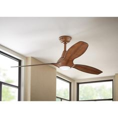 Home Decorators Collection Tidal Breeze 56 in. LED Indoor Distressed Koa Ceiling Fan with Light Kit and Remote Control 54662 - The Home Depot Outdoor Sconce Lighting, Luxury Lighting, Traditional Ceiling Fans, Porch Wall Decor, Brushed Nickel Ceiling Fan, Ceiling Installation, Thing 1, Led Wall Lamp, Light Covers