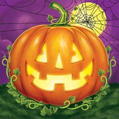 Pumpkin Patch Beverage Napkins -Napkins.com - Jack O Lantern - Halloween Parties - Pumpkin