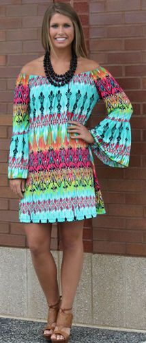 Colors of Spring Damask*LONG* Tunic/Dress-GREEN, $38.00