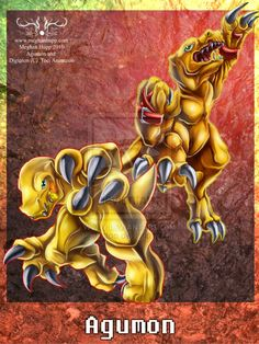 Digimon: Agumon by *Juctoo on deviantART