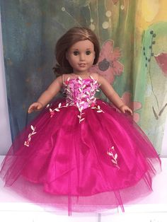 American+Girl+Custom+OOAK+Pink+Passion+Quinceanera+Prom