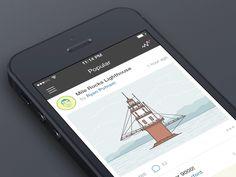 Dribbble App Sidebar // by Radmir Mingaliev