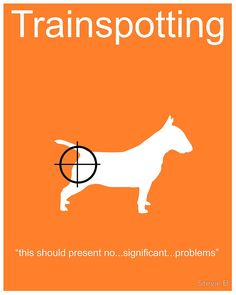 Trainspotting (1996) ~ Minimal Movie Poster by Stevie Brown
