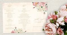 Vintage + Rózsa menü Vintage + Rose menu
