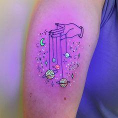 Tukoi Oya is a UV tattoo artist from Melbourne, Aust. Tukoi Oya is a UV tattoo artist from Melbourne, Aust… - Glow Tattoo, Uv Tattoo, Dark Tattoo, Piercing Tattoo, Tattoo You, Body Art Tattoos, Piercings, Tatoos, Uv Ink Tattoos