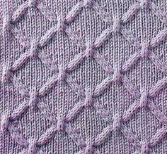 Cable Lattice Knit Stitch pattern chart. Translation for Russian Knitting Symbols into English