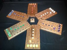 Wahoo / Aggravation Hand Crafted Wooden Game by GoldenCloverGames, $75.00