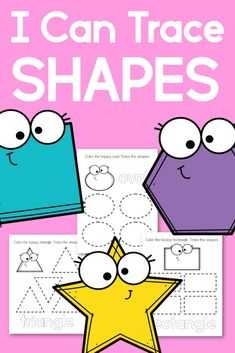 Tracing Shapes Practice Pages for Preschool - Walking by the Way Educational Activities For Preschoolers, Writing Activities, Free Preschool, Preschool Printables, Free Printables, Pre Writing Practice, Tracing Shapes, Shape Books, Shapes For Kids