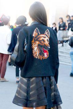 Canine companion #streetstyle