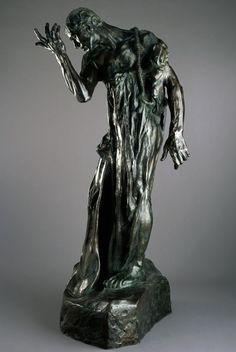 Auguste Rodin (French, Pierre de Wiessant, Monumental (Pierre de Wissant, monumental), Figure from 'the burghers of Calais' Auguste Rodin, Modern Sculpture, Abstract Sculpture, Bronze Sculpture, Metal Sculptures, Wood Sculpture, Rodin Drawing, Haring Art, Keith Haring