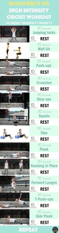 High intensity circuit workout for maximizing weight loss