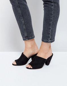 ASOS HEDDON Kitten heel Mules - Black