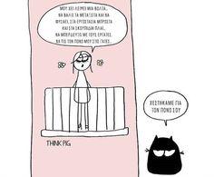 #ThinkPig Peanuts Comics, Humor, Illustrations, Humour, Illustration, Funny Photos, Funny Humor, Comedy, Lifting Humor
