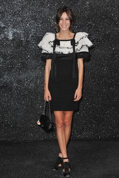 Alexa Chung at the Chanel Haute Couture Fall/Winter 2011/2012 show on July 5, 2011