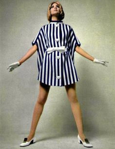 Fashion by Pierre Cardin for L'Officiel magazine, 1960s.