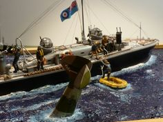 RAF High Speed Launch 1/72 Scale Model Diorama