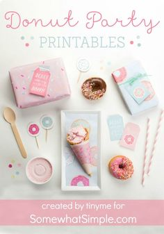 Donut Party Printables - Somewhat Simple