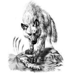 Wzór tatuażu Wilk - Monika TATUAŻE