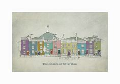 The Colours of Ulverston Original graphic poster art designed in The Northern Line studio in Ulverston, Cumbria. We ship worldwide. #thelakedistrict