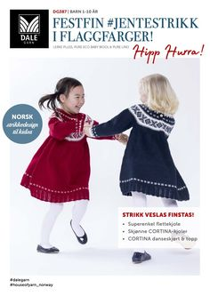 Festfin i flaggfarger! Baby Barn, Jumpers, Crochet Hats, Knitting, Children, Disney, Fashion, Tricot, Girls Dresses