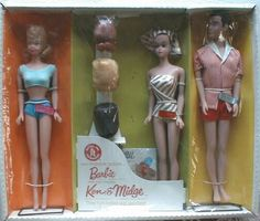 Fashion Queen Barbie Gift Set (Barbie, Ken & Midge) I really want this